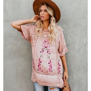 POL Tops - Mauve tunic/dress from Vici Collection